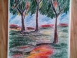Originální obraz, Zlín, zátiší stromů
